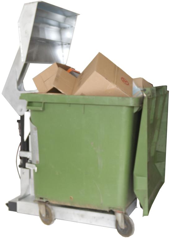 Müllpresse CP 1100 mit 1,1m³ Behälter